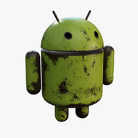 rusty android 3d obj