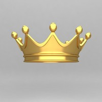 3d crown ornaments king model