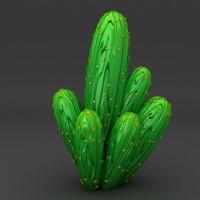 3d lego cactus 2 model