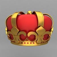 crown king ornaments 3d max