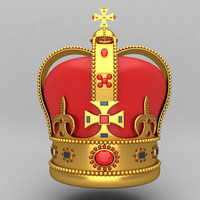 3ds max crown king ornaments