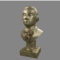 george washington bust 3d obj