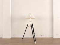 3d rail wood floor lamp