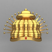 3d model crown king ornaments