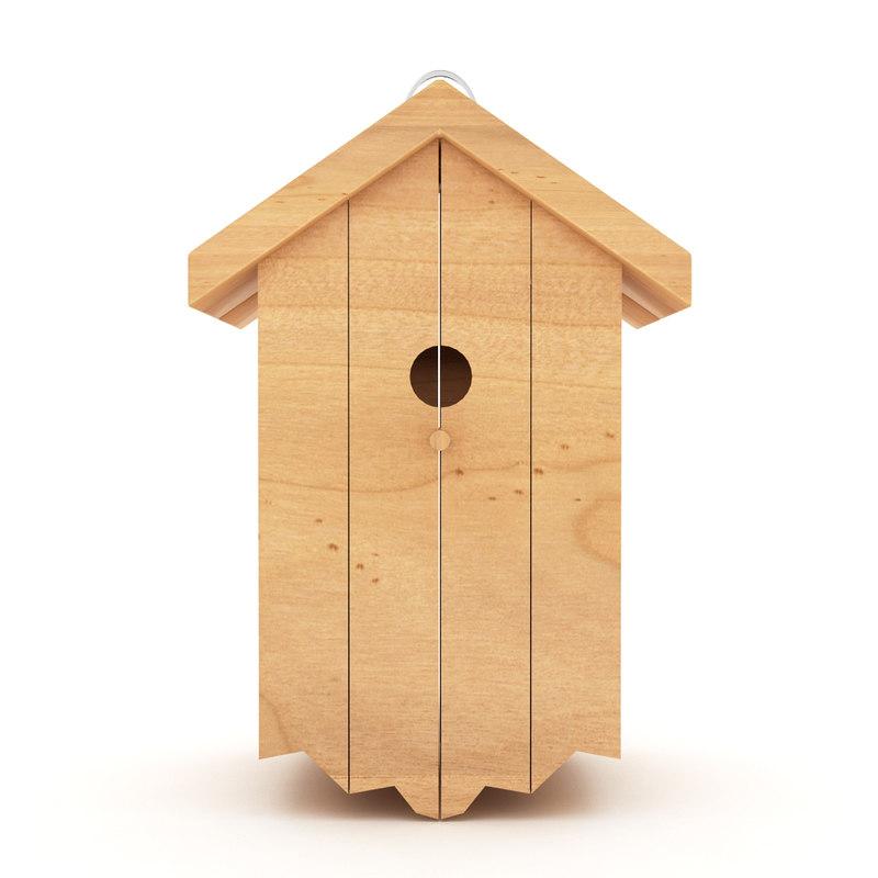 Wood Bird Shelter : D birds wooden house shelter