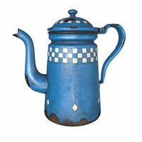 enamel coffee pot 3d x