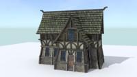 1 house medieval village 3d model