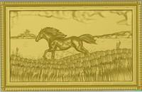 horse lake 3d model