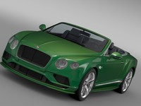3d bentley continental gt speed model