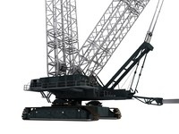 terex demag crawler twin 3d model