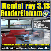 Mental ray 3.13 in 3dsmax 2016 Vol.8 Render Element_cd front