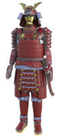 3d japanese samurai armor model