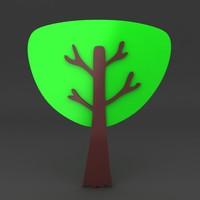 3dsmax cartoon tree
