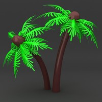 lego palm tree 3d model