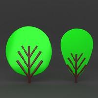 3d lego tree model