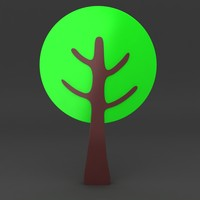 maya cartoon tree