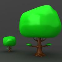 lego tree 3d model