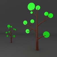 cartoon tree 3d max