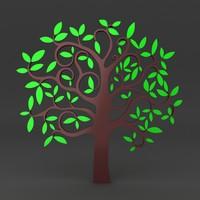 3d model of lego tree