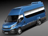 minibus bus iveco 3d 3ds