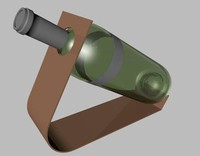 wine bottle 3d dxf
