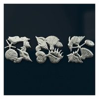 Seashells Triptych Wall Art