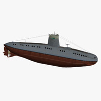 3d german coastal submarine