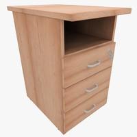 3d model rack office table
