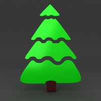 3ds max cartoon christmas tree