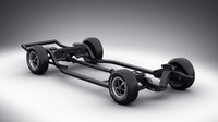 3d model of car chassis