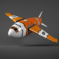 3d model cartoon plane toon