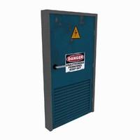 3d model utility door pbr