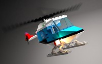 3d model lego helicopter