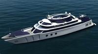 modern yacht 3d max