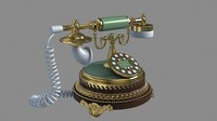 3d model old style phone