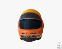 3d sci-fi helmet 02 pbr model