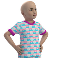 3d model of girl boy