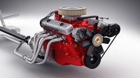 3d model car engine