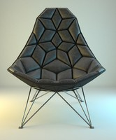 3d modern rombic armchair model