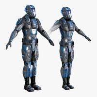 set sci-fi armor max