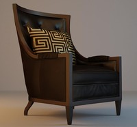armchair leather 3d obj