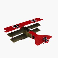 3ds max manfred red baron fokker dr1