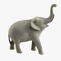 3d model metal elephant