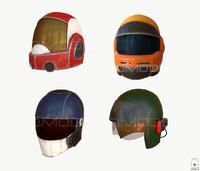 sci-fi helmet pbr 3d model