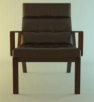 3d rest armchair model