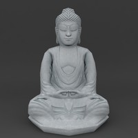 seated Buddha lowpoly