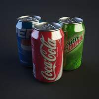 3ds max drink cans