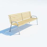 park bench backrest 3d max