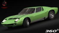3d model of lamborghini miura p400 1967