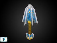 3ds max hand painted mace